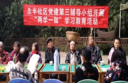 """肖家河永丰社区党建第三辅导小组开展""""两学一做""""专题学习活动"""